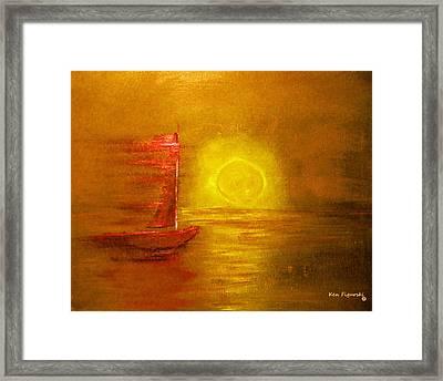 Metallic Sail Framed Print by Ken Figurski