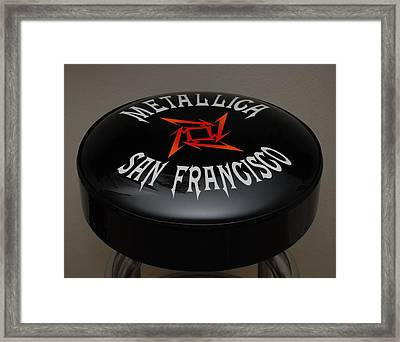 Metallica Bar Stool Framed Print by Rob Hans