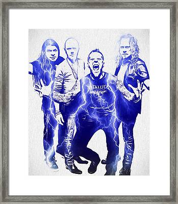 Metallica Framed Print by Dan Sproul