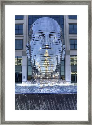 Metalmorphosis Statue Metal Sculpture Fountain Framed Print