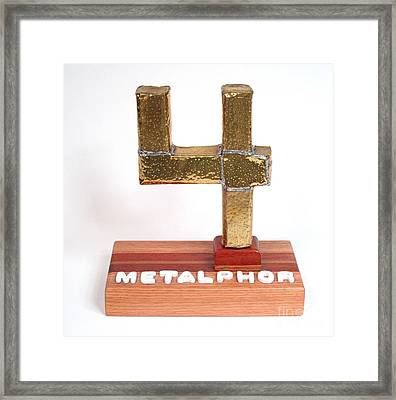 Metalphor   #120 Framed Print by Bill Czappa