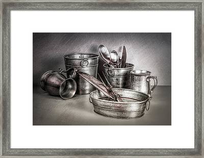 Metalware Still Life Framed Print by Tom Mc Nemar