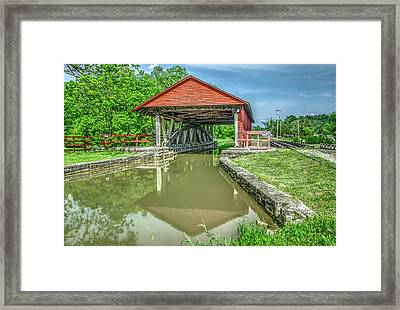 Metamora Indiana Aqueduct And Whitewater Canal Framed Print