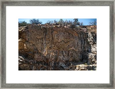 Metamorphic Geologic Wall In Kings Canyon Giant Sequoia National Monument Sequoia National Forest Framed Print
