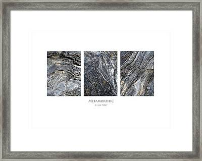 Framed Print featuring the digital art Metamorphic by Julian Perry