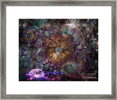 Framed Print featuring the digital art Metamorphignition by Rhonda Strickland