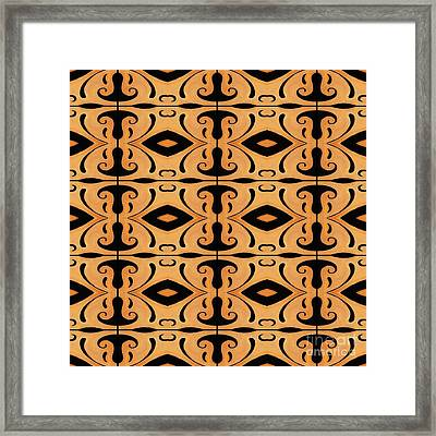 Metamorphosis Of The White Waves Symmetry Tile 3 By 4 Framed Print by Helena Tiainen