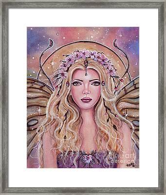 Metamorphosis Fairy Portrait Framed Print