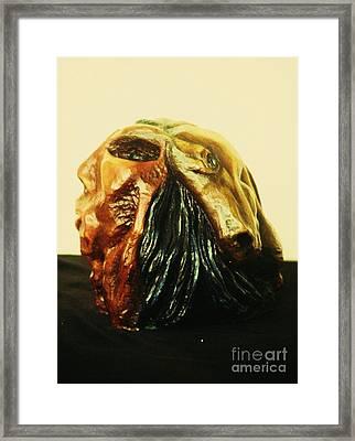 Metamorphosis Sculpture Indian Horse View  Framed Print by Jamey Balester