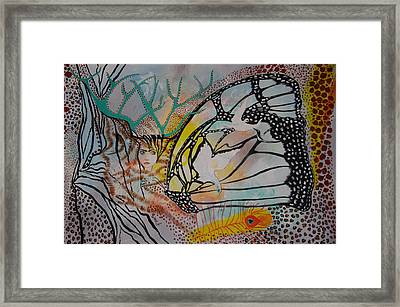 Framed Print featuring the painting Metamorphosis by Sima Amid Wewetzer