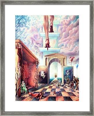 Metaphor Framed Print by Oscar Lopez