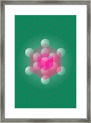 Metathron's Cube Framed Print by Selim Oezkan