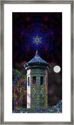 Framed Print featuring the digital art Metatron Nocturnal by Iowan Stone-Flowers