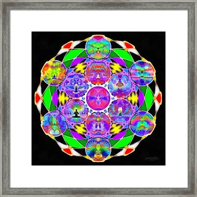 Framed Print featuring the digital art Metatron's Cosmic Ascension by Derek Gedney