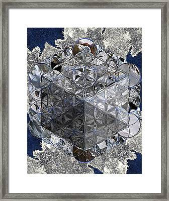 Metatrons Ice Cube Ice Framed Print