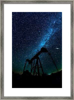 Meteor Above Grasshopper Framed Print