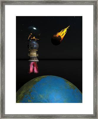 Meteor Chaser Framed Print by Claude McCoy