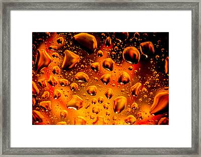 Meteor Diffusion Framed Print