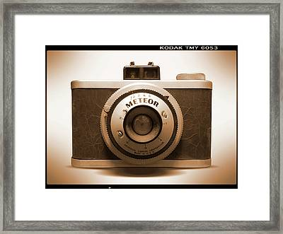 Meteor Film Camera Framed Print