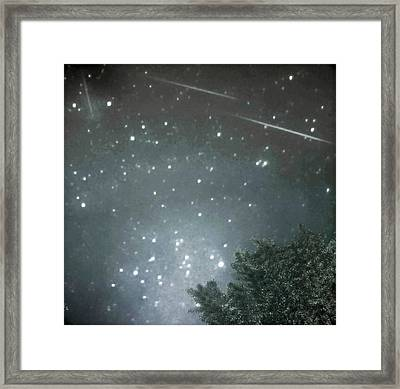 Meteor Mayhem Framed Print by Rick Grossman