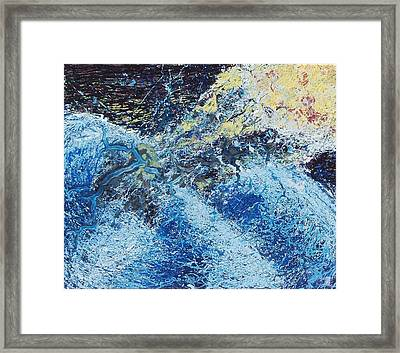Meteor Over The Indian Ocean Framed Print