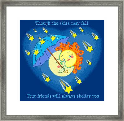 Framed Print featuring the digital art Meteor Shower 3 by J L Meadows