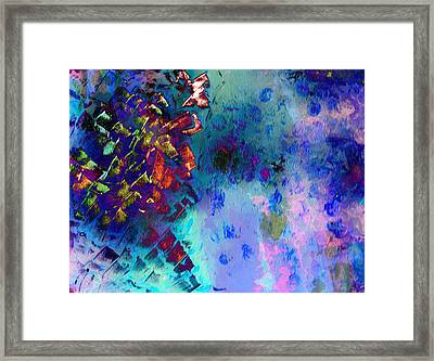 Meteor Shower Heals Earth Framed Print