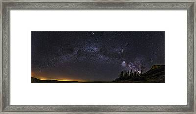 Meteorite Milky Way At The Mountains Framed Print
