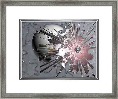 ' Meteors Might ' Framed Print