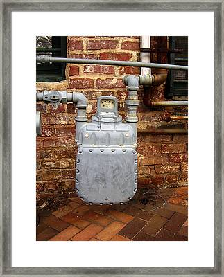 Meter II In Athens Ga Framed Print by Flavia Westerwelle