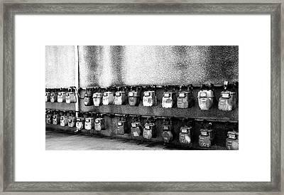 Meter Machines Framed Print by Jera Sky