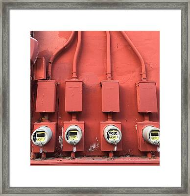 Meter Reader Red 2 Framed Print