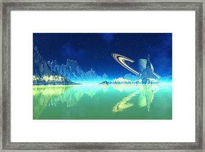 Methane Seas Of Titan Framed Print by David Jackson