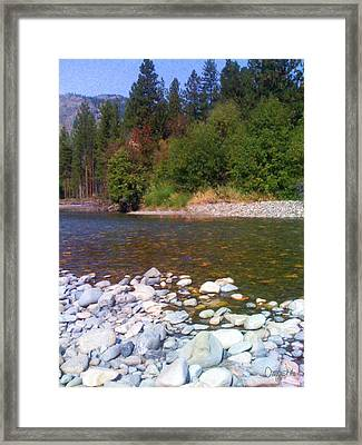 Methow River In Mazama Landscape Photography By Omashte Framed Print