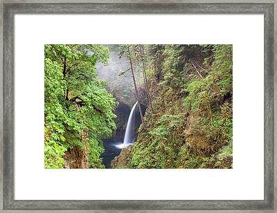 Metlako Falls In Columbia River Gorge Framed Print