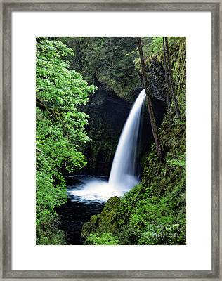 Metlako Falls Waterfall Art By Kaylyn Franks Framed Print