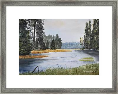 Metolius River Headwaters Framed Print