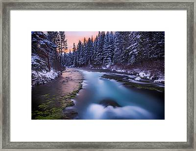 Framed Print featuring the photograph Metolius Sunset by Cat Connor