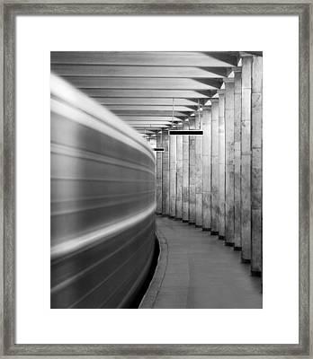 Metro #0110 Framed Print by Andrey Godyaykin