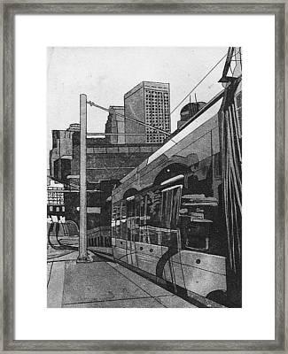 Framed Print featuring the mixed media Metro by Jude Labuszewski