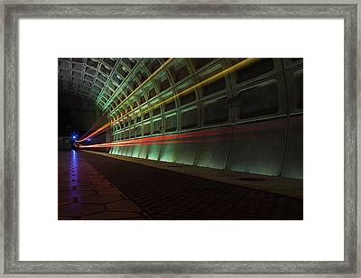 Metro Lights Framed Print
