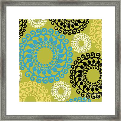 Metro Modern Retro Pattern  Framed Print by Mindy Sommers