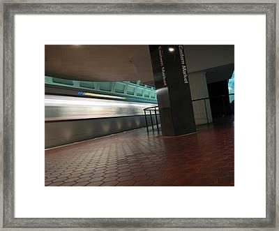 Metro Motion Framed Print by Sean Owens