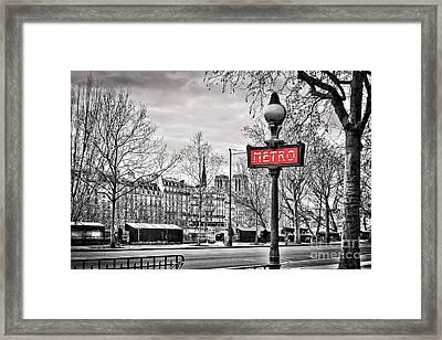 Metro Pont Marie Framed Print