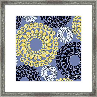 Metro Retro Circle Pattern 3 Framed Print by Mindy Sommers