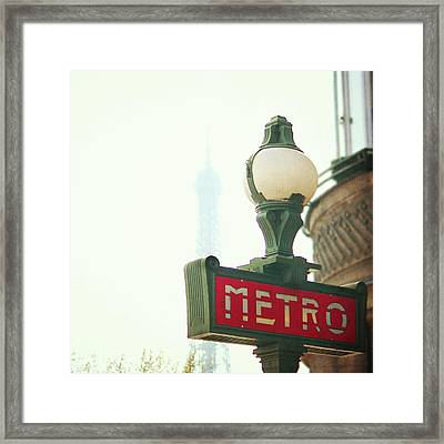 Metro Sing Paris Framed Print