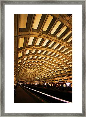Metro Station Framed Print by Mitch Cat