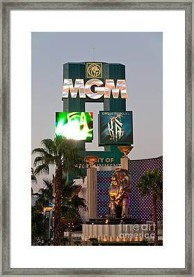 Metro The Mgm Lion Framed Print by Andy Smy