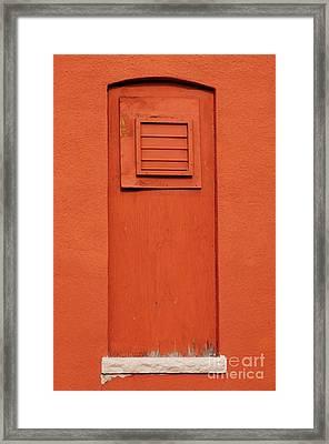 Metro Window Framed Print by Merrimon Crawford
