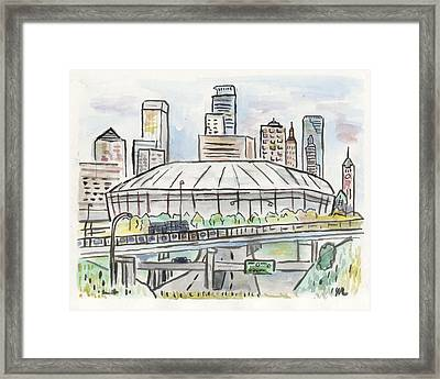 Metrodome Framed Print by Matt Gaudian